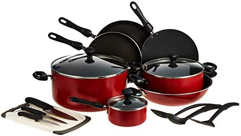 Prestige Aluminum Non-stick Cookware Set of 17-Piece, Red PR21822 : Buy  Online at Best Price in KSA - Souq is now Amazon.sa: Home