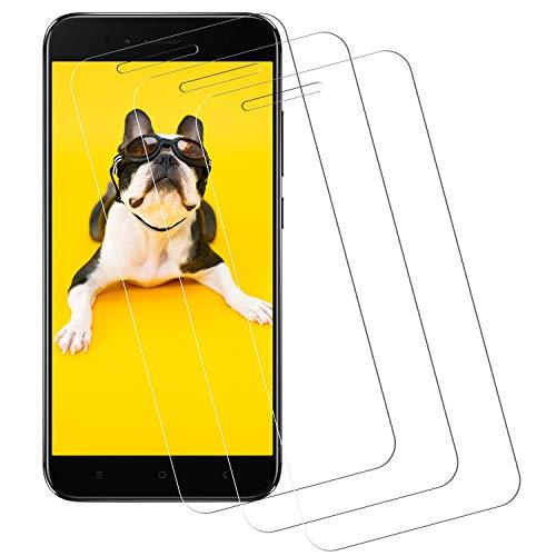 Miuphro Cristal Templado Compatible con Xiaomi Mi A1 [3-Unidades], Protector de Pantalla Xiaomi Mi A1, [2.5d Borde Redondo][Fácil Instalación][Alta Definicion][9H Dureza]