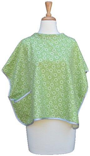 Babymoon Burpette 2-in-1 Nursing Cover & Burp Cloth with Pocket for Convenient Breastfeeding Privacy with Pocket - Perfect for Baby Shower and New Mom (Pistachio)