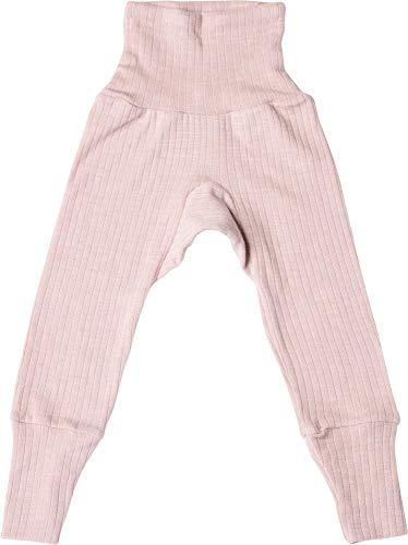Cosilana, Baby Hose mit Nabelbund, 45% KBA Baumwolle, 35% kbT Wolle, 20% Seide (74/80, Pink Melange)