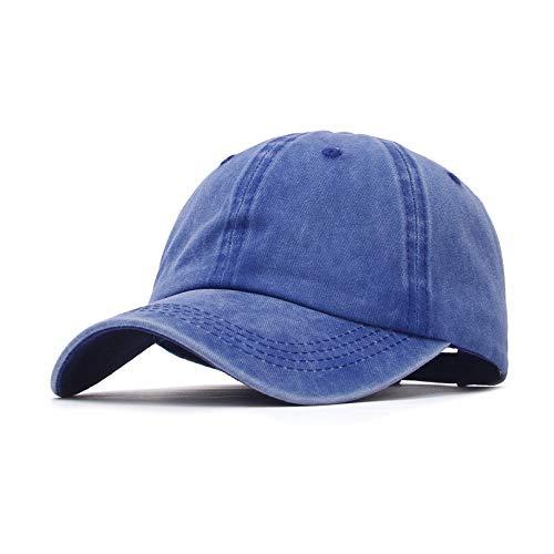 GEMVIE - Gorras de Hombre Beisbol Algodón Hebilla Metal Ajustable Gorras de Verano Sombrero de Deportes al Aire Libre Gorra Mujer Unisex 55-59cm