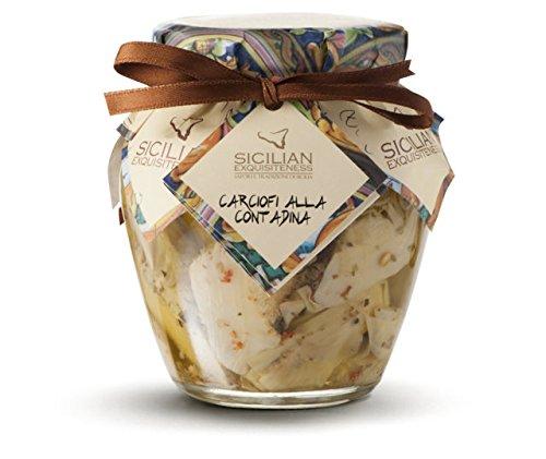 Handgemachte sizilianische Artischocken in Olivenöl - 270g Glas