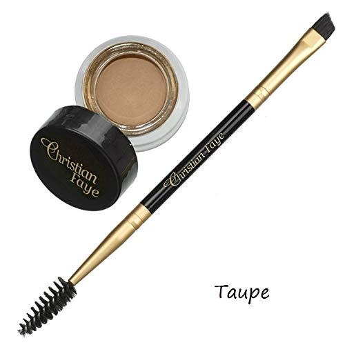 Crème semi-permanente pour sourcils - existe en 4 couleurs - brosse double face incl. (Taupe)