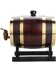 Oak Aging Barrels - Dispensador de barril de whisky de 1,5 L para vino, licores, cerveza y licor de color retro (con chips de roble al horno)