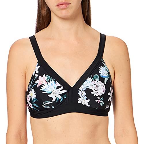 ESPRIT Maternity Damen Bikini top AOP Umstandsbikini, Mehrfarbig (Black 001), 38 (Herstellergröße: M/L)