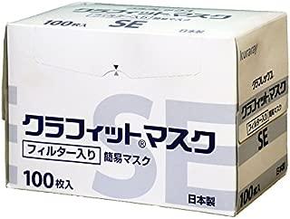クラレクラフレックス【日本製】粉じん用簡易マスク クラフィットマスク SE 100枚入り