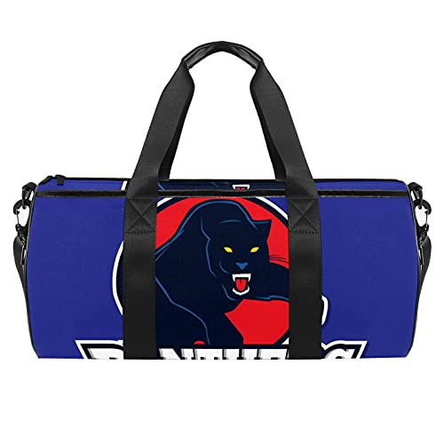 Borsone sportivo da palestra, borsa da danza media leggera e resistente, colore a colori, illustrazione di calcio, palestra e borsa da viaggio per uomini e donne, 45 x 23 x 23 cm, nero6, 45x23x23cm,