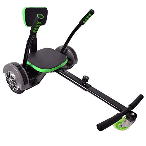 "Hoverseat Hoverboard Scooter Seat Sedile Accessori Hoverkart Equilibrio Boards nero regolabile per 6,5\"" 8\"" 10\"" idoneo"