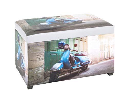 HAKU Möbel Sitztruhe, MDF, bunt, 40 x 65 x 42 cm
