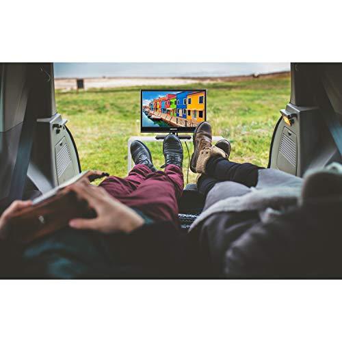 MEDION E11682 39,6 cm (15,6 Zoll) HD Fernseher (HD Triple Tuner, DVB-T2 HD, DVD-Player integriert, 12V KFZ Car-Adapter, CI+, Mediaplayer)
