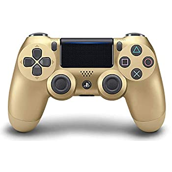 DualShock 4 Wireless Controller for PlayStation 4 - Gold  Renewed