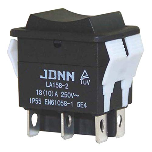JDNN LA158-2 250V 10A 6 Pines Eléctrico Impermeable Doble Momentáneo Interruptores de...