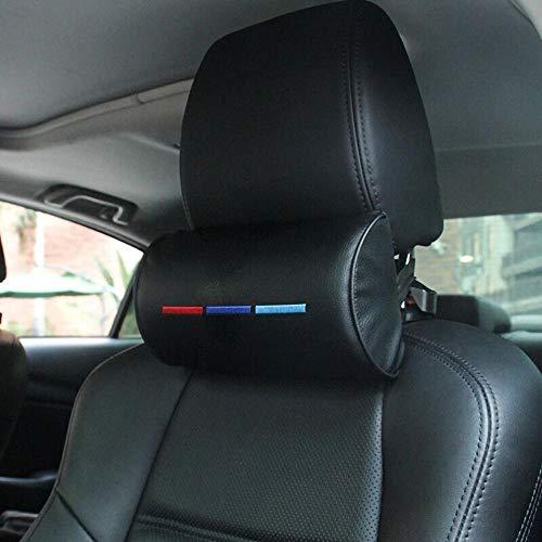 Yaoqshu Reposacabezas para Coche Protección Cuello reposacabezas de Coches Almohada for Cuello for BMW M3 M5 X1 X3 X5 X6 E46 E39 Cuero Supporter Apoyo for la Cabeza de la Almohadilla del Coche