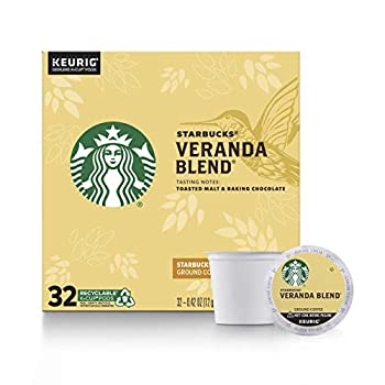 Starbucks Blonde Roast K-Cup Coffee Pods — Veranda Blend for Keurig Brewers — 1 Box  32 Pods