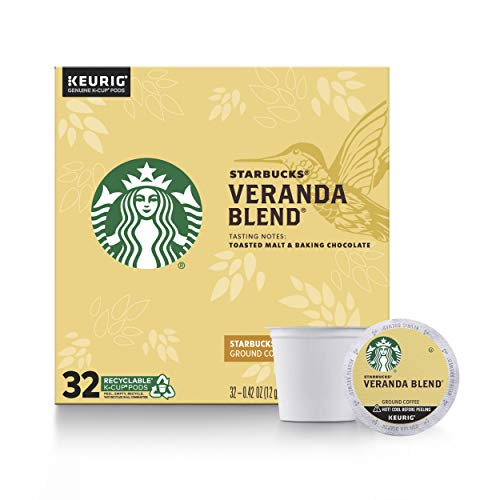 Starbucks Blonde Roast K-Cup Coffee Pods — Veranda Blend for Keurig...