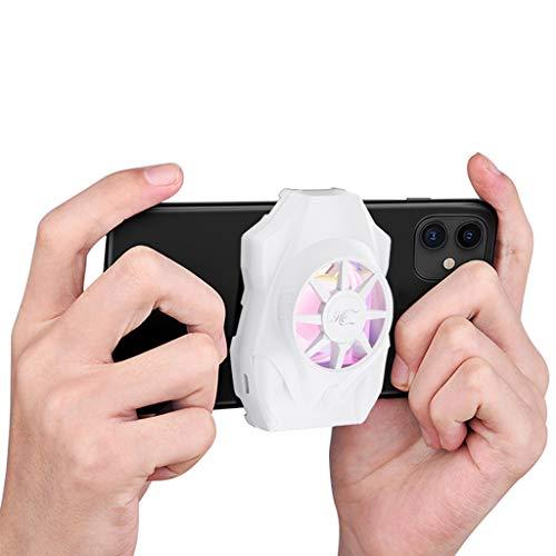 Leiouser AS03 - Ventilador de refrigeración para teléfono móvil universal para teléfono móvil, semiconductor de refrigeración radiador USB recargable para teléfono móvil, ordenador y juegos