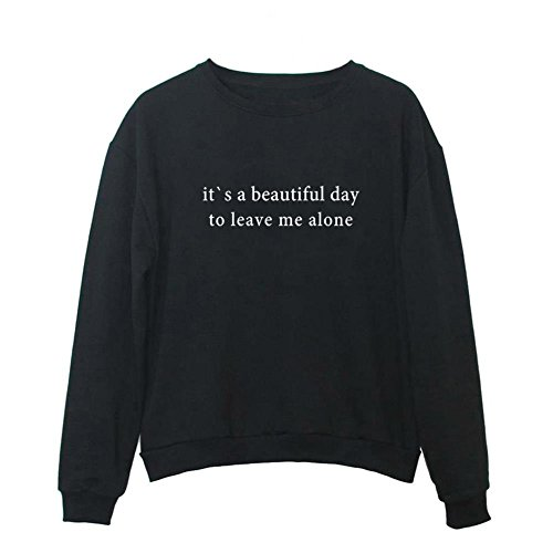 YITAN Women Graphic Cute Sweaters Funny Pullover Teen Girls Sweatshirts Black Small