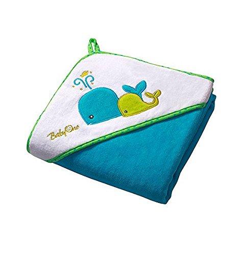 Baby Kind Kapuzenbadetuch 100x100 cm GROSS und SUPERWEICH, Badetuch, Strandtuch, duschtuch, Handtuch (blau)