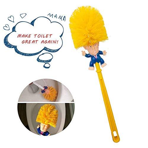 love planet Original Trump WC-Bürste, Trump WC-Bürstenreiniger, Neuheit Präsident Geschenke WC-Bürste, (gelb)