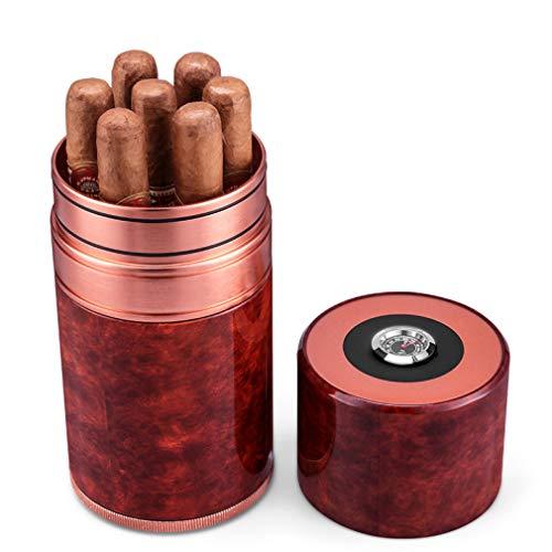 DPLQX Cigar Desktop Box Cedar Humidor, Duurzaam Goede afdichting Draagbaar Verwijderbaar met Hygrometer en Luchtbevochtiger, sigaar vochtigheid reiskoffer