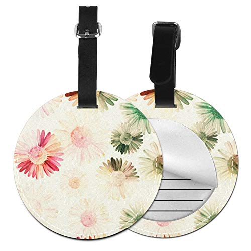Luggage Tags Daisy Chamomile Flower 342 Suitcase Luggage Tags Business Card Holder Travel Id Bag Tag