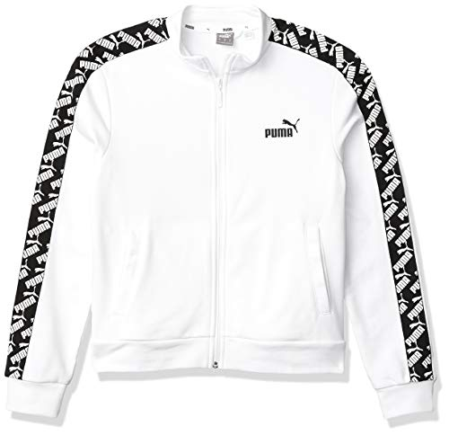 PUMA Herren Amplified Jacke, Weiß, Small