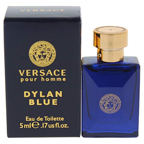 Versace Dylan Blue Mini Eau de Toilette Splash for Men, 0.17 Ounce New York