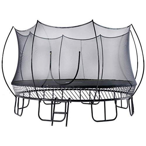 FreeJump Springless Trampoline with Safety Net Enclosure, Ladder (15...