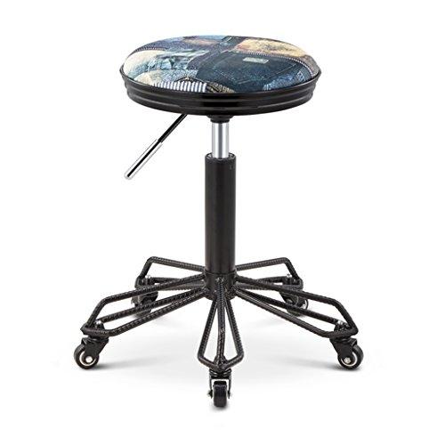 Decoratieve stool Vintage barkruk, huishouden barkruk PU-stoel barkruk continentaal restaurant café kan voorschrijftafel decoratieve kruk draaikruk lift hoogte 50-50 cm heffen