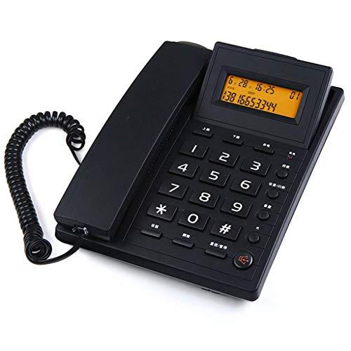 WYZQ Teléfonos con Cable Teléfonos fijos Pantalla LCD Marcación rápida Teléfono con Cable de Escritorio con botón Grande Amplificado Tephone Color Blanco y Negro Opcional / 20.5 * 16cm Teléfonos
