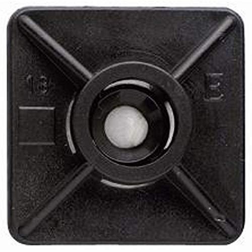 Index Fixing Systems BBANE27 lijmbasis voor kabelbinders 4,8 mm met speciale lijm, zwart (verpakking van 100)
