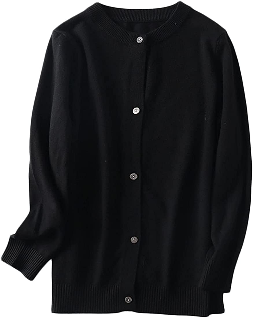 Joe Wenko Girls Boys Cardigan Cashmere Sweater School Uniforms Button Long Sleeve Tops