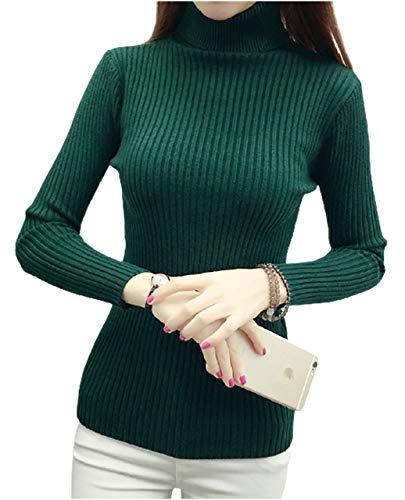 [エムエルーセ] タートルネック ニット セーター リブ シンプル 長袖 レディース 暖かい 大きめ ゆったり かわいい 大きい サイズ おおきい フードなし オシャレ カワイイ ビジネス カッコイイ 可愛い お洒落 おとな スタンドカラー 着心地のいい 服 あったか 個性 ファッション デザイン ハイ ネック おしゃれ もこもこ 生地 タッチニット シンプルニット グリーン MRA70-GRL(2)