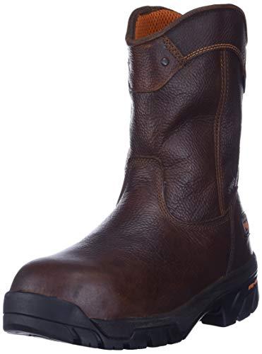 Timberland PRO Men's Helix Wellington Waterproof Steel Toe Work Boot,Brown/Brown,12 W US