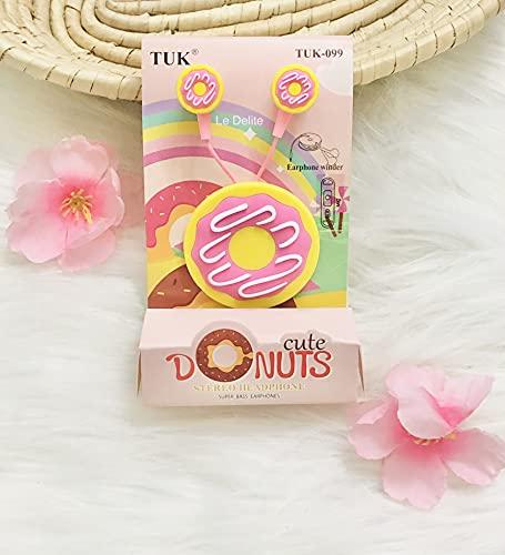 Le Delite Unicorn Cartoon Donut Rainbow Wired Earphones Gamer Music/ Stereo Earbuds Outdoor Sport Running Headphones Kids Children Girl Birthday Return Gift case