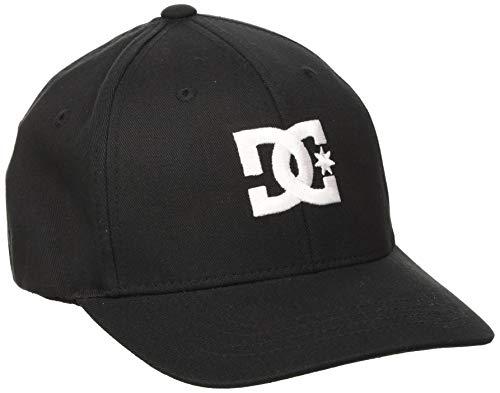 DC Shoes Cap Star-Gorra Flexfit para Chicos 8-16, Niños, Black, 1SZ