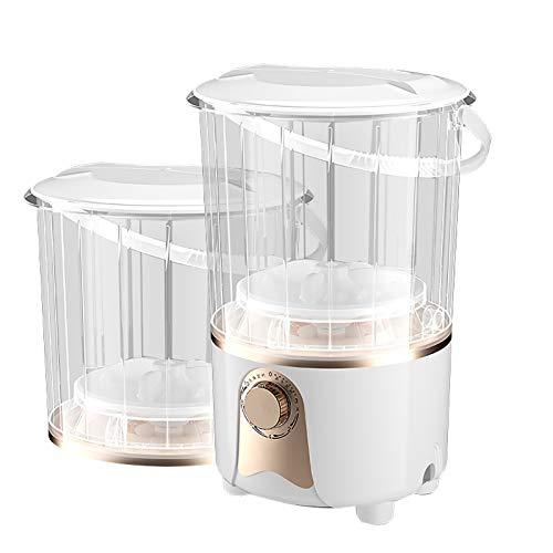 XMSIA Tragbare Waschmaschine Waw-Unterwäsche, Kleiner tragbarer Haushaltssaal Halbautomatische Mini-Eimer-Waschmaschine Kompakte Mini-Waschmaschine für Schlafsäle (Color : White, Size : 33x33x47cm)