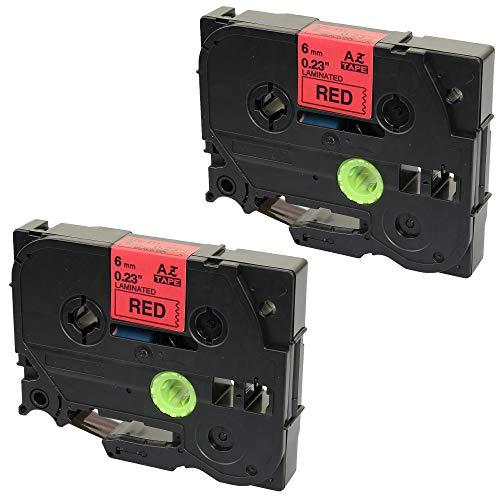 Prestige Cartridge TZ411 compatibel met Brother P-Touch PT11Q, zwart/rood