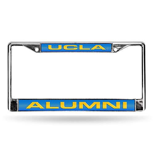 Rico Industries NCAA UCLA Bruins Laser Cut Inlaid Standard License Plate Frame, Chrome, 6