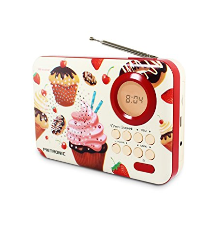 Metronic 477219 Radio Cupcake weiß/rot