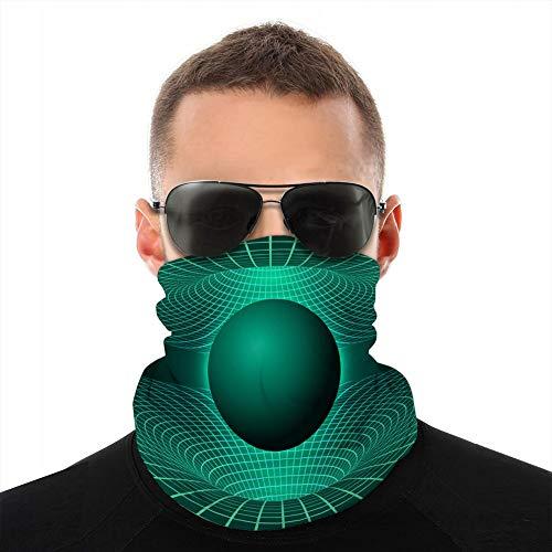 Schlauch-Halstuch, UV-Schutz, Party-Abdeckung, Schwarzes Loch, Verformung Zeit und Raum in Grün