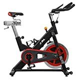 JLL® IC400 ELITE Indoor Bike, Direct Belt Driven Exercise Bike For Home, 20kg Flywheel, Friction Resistance, Monitor, Heart Rate Sensors, Adjustable Seat, 12 Months Domestic Warranty