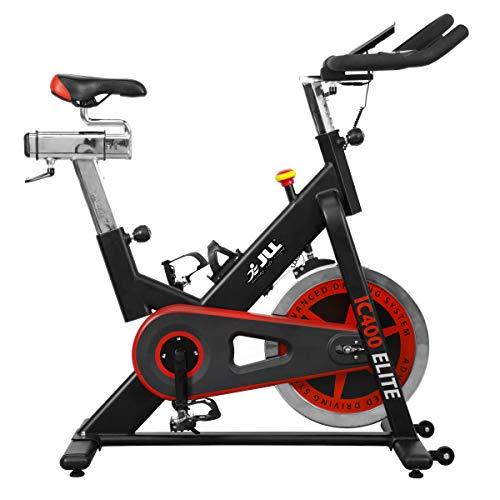 JLL IC400 ELITE Indoor Bike, Direct Belt Driven Exercise Bike For Home, 20kg Flywheel,...