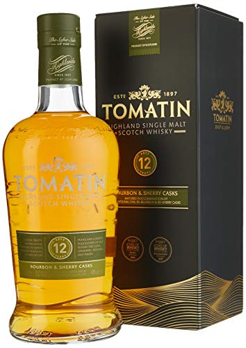 Tomatin Malt 12 Years Old mit Geschenkverpackung Whisky (1 x 0.7 l)