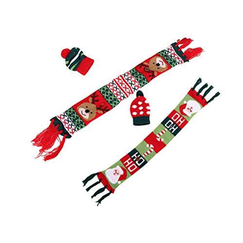 Cabilock Delicate2 Satz Weihnachten Wein Abdeckungen Kreative Weinflasche Schal Hut Schmuck Weinflasche Dekore für Home Party