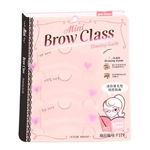 3 Styles ABS en Plastique Grooming Stencil Makeup Shaping Beauté DIY Modèle de sourcil Gabarits Maquillage Outils Accessoires (Transparent) FRjasnyfall