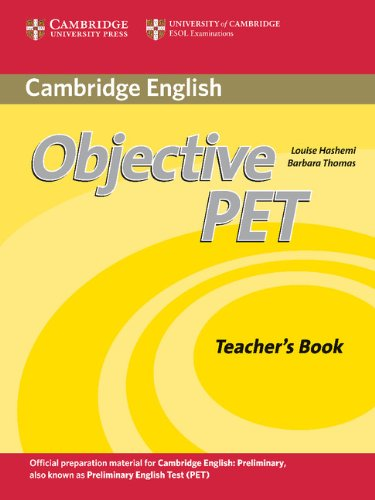 Objective PET 2nd Teacher's Book