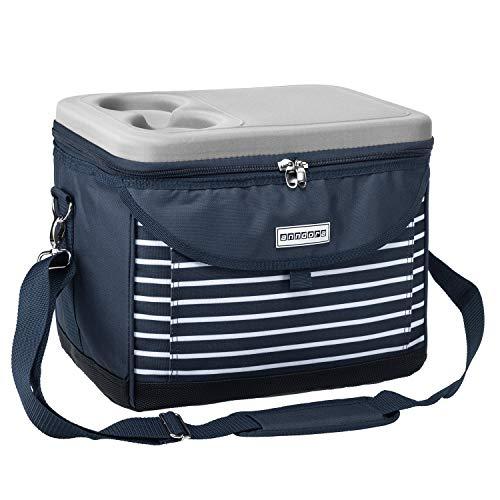anndora Kühltasche 22 L Kühlbox 35 x 24 x 27 cm - blau weiß gestreift