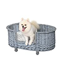 WICKER STRUCTURE: Tightly woven for strength, it is naturally durable and non-toxic. Grey colour for a stylish update to a classic piece. INNER CUSHION. Padded with polycotton, it is plush and soft for comfort as they rest and sleep. Can be removed f...