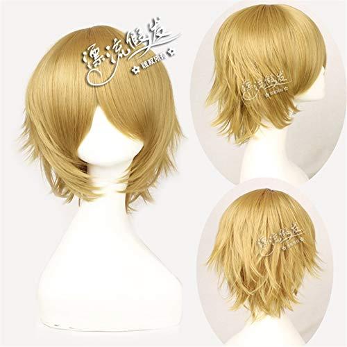 Danganronpa Togami Byakuya Cosplay Wigs Man Boys Short Straight Brown Fake Hairpiece Anime Universal Wigs for Christmas Party